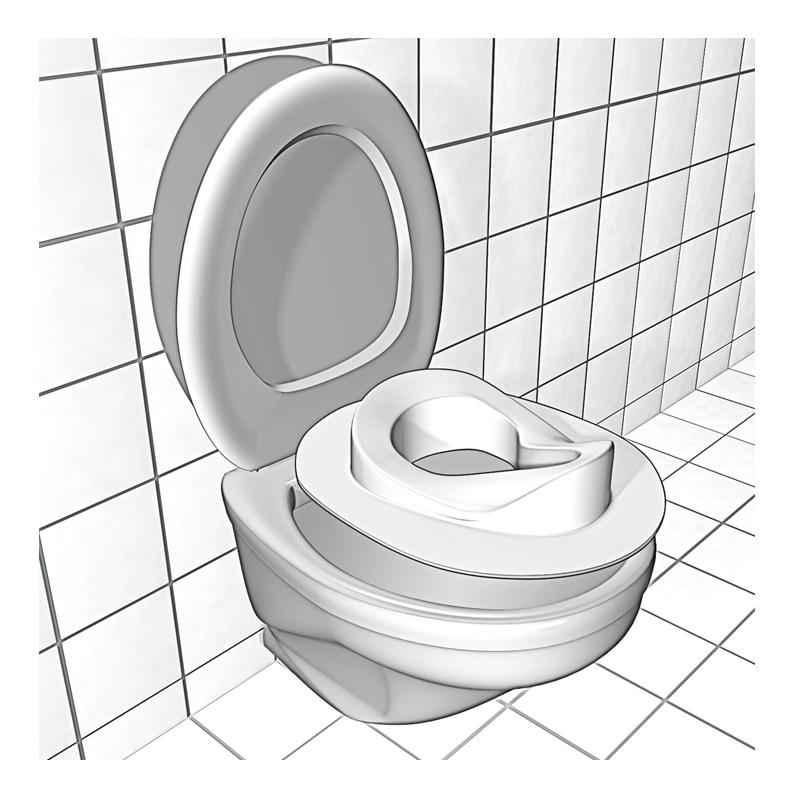 Scaun WC pentru copii Reer, Alb