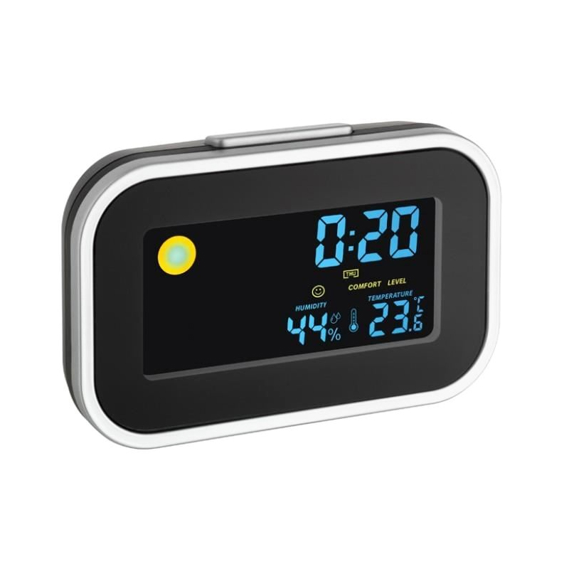 Termo-higrometru TFA, LCD, cu ceas si alarma 2021 shopu.ro