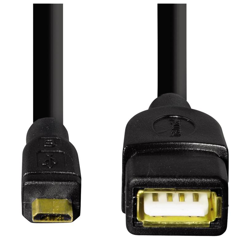 Adaptor micro USB B Hama, 15 cm