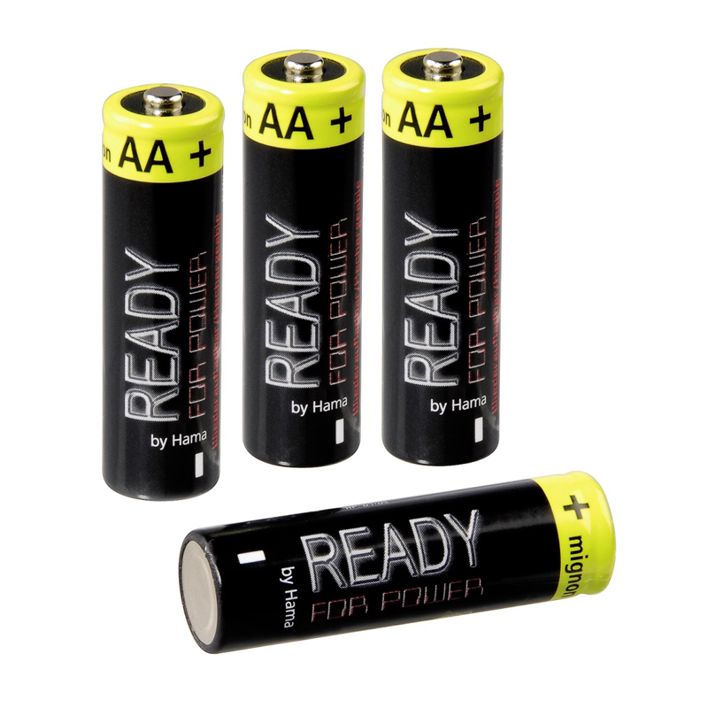 Baterii reincarcabile NiMH Hama, 4xAA Mignon, 2400 mAh 2021 shopu.ro