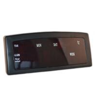 Ceas digital 909, LED, calendar, afisare temperatura, Negru