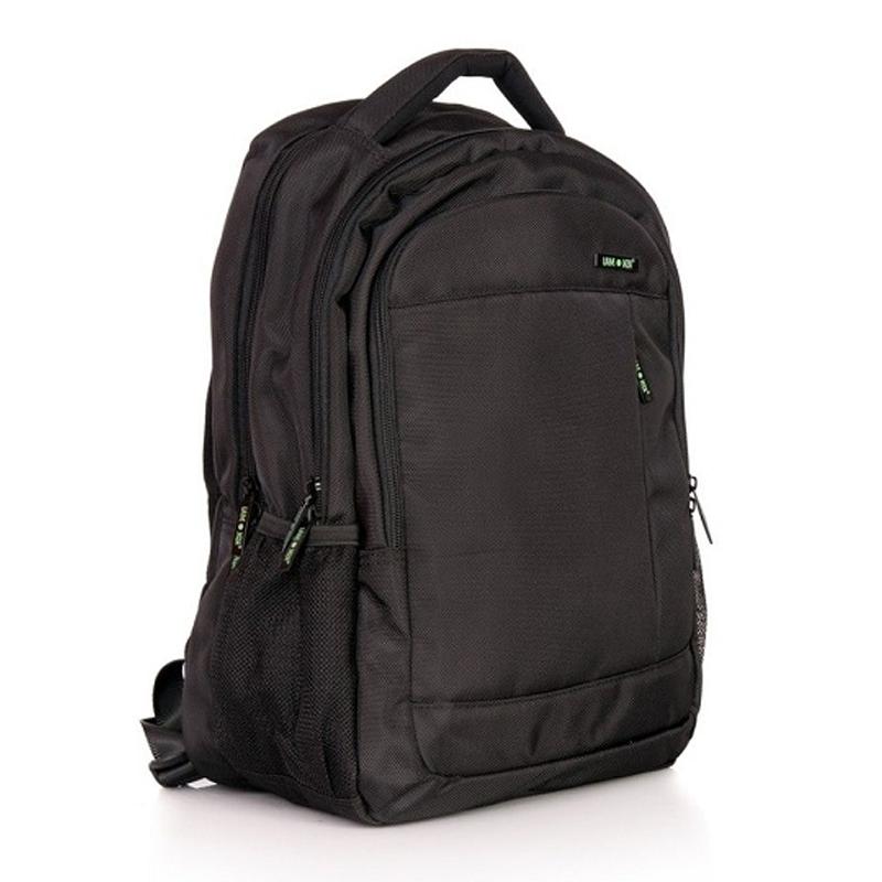 Rucsac laptop Crest Lamonza, 43 cm, Negru/Verde 2021 shopu.ro