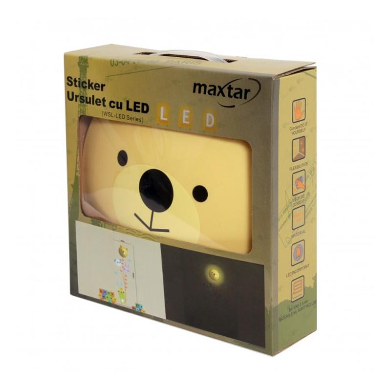 Sticker ursulet cu led Maxtar, 175 x 60 cm 2021 shopu.ro