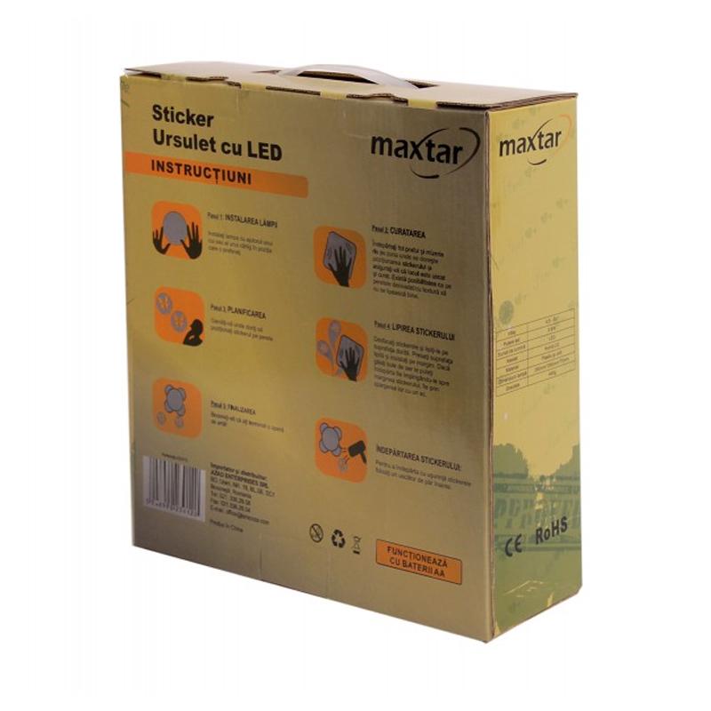 Sticker ursulet cu led Maxtar, 175 x 60 cm