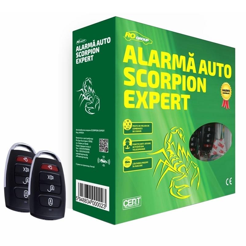 Alarma auto Scorpion Ro Group, LED, rearmare automata