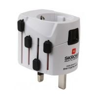 Adaptor priza universal 3P Skross, 3 pini