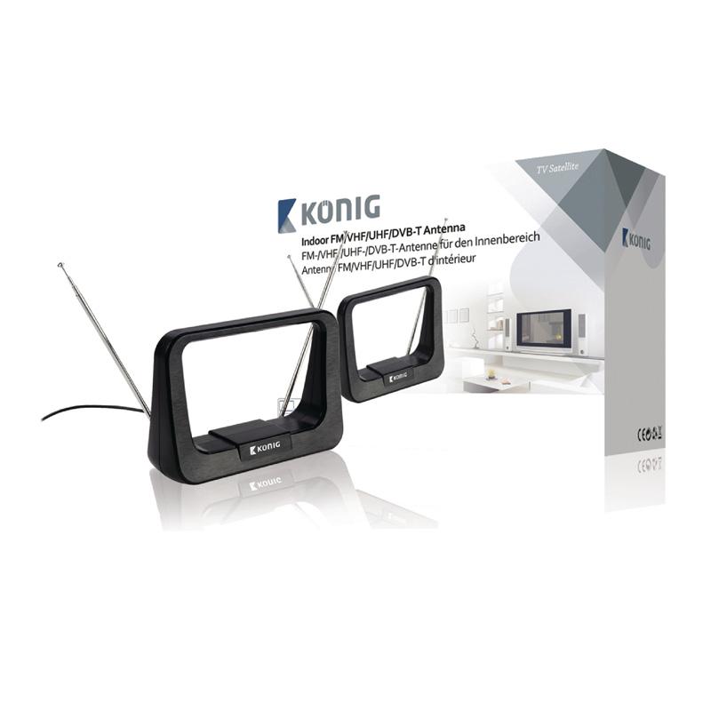 Antena interior DVB-T/DVB-T2 Konig, 5-7 dB