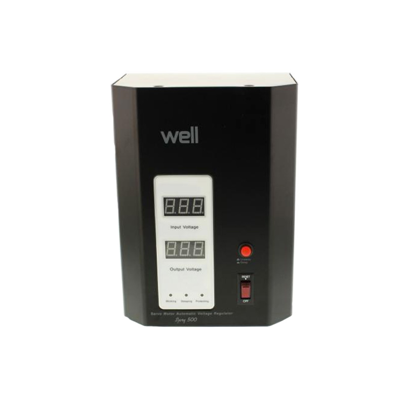 Stabilizator de tensiune cu servomotor Well, 500 VA