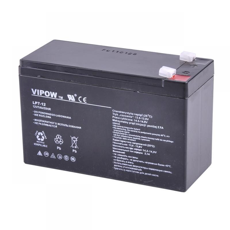 Acumulator gel plumb Vipow, 12 V, 7 Ah 2021 shopu.ro