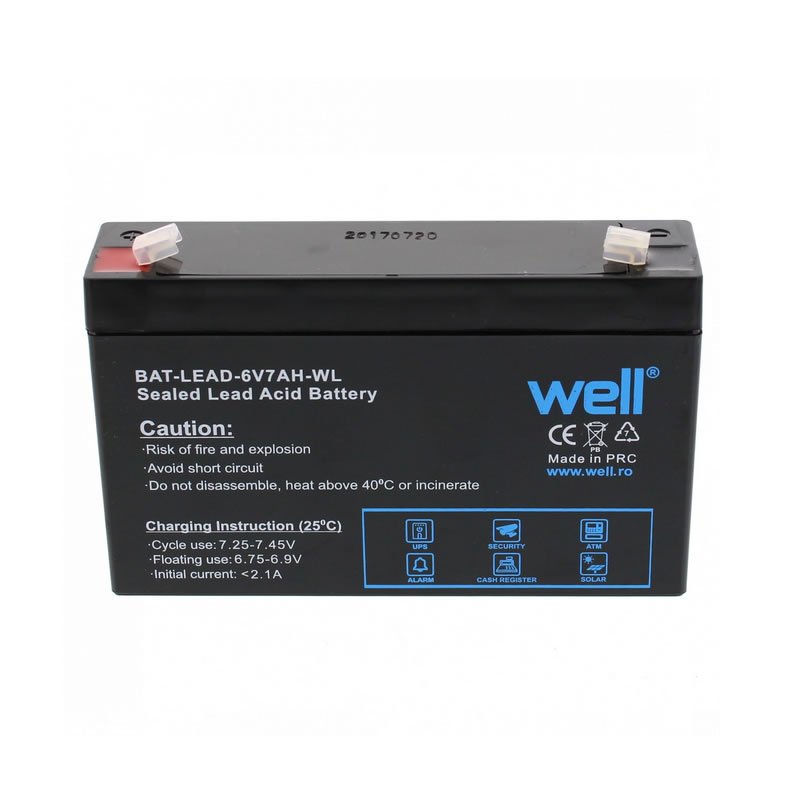 Acumulator plumb acid Well, 6 V, 7 Ah 2021 shopu.ro