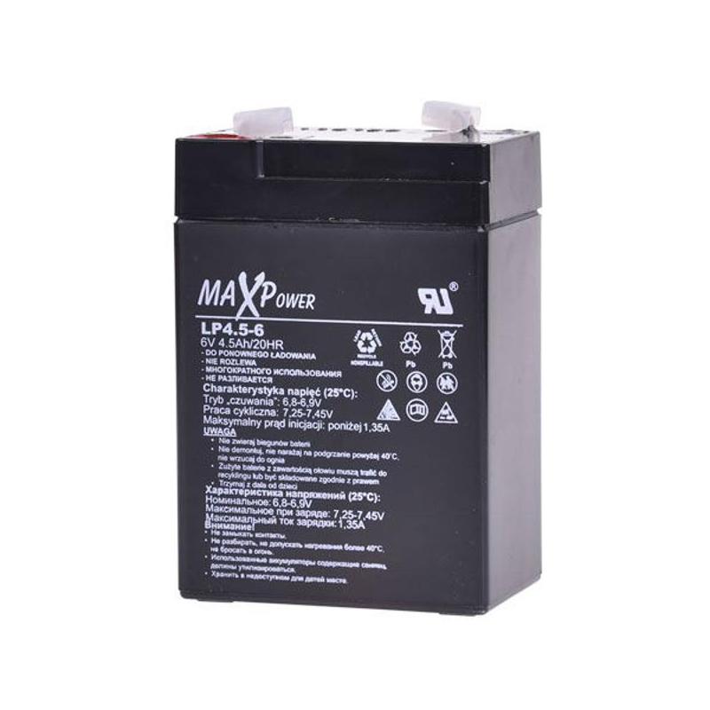 Acumulator stationar SLA MaxPower, 6 V, 4.5 Ah