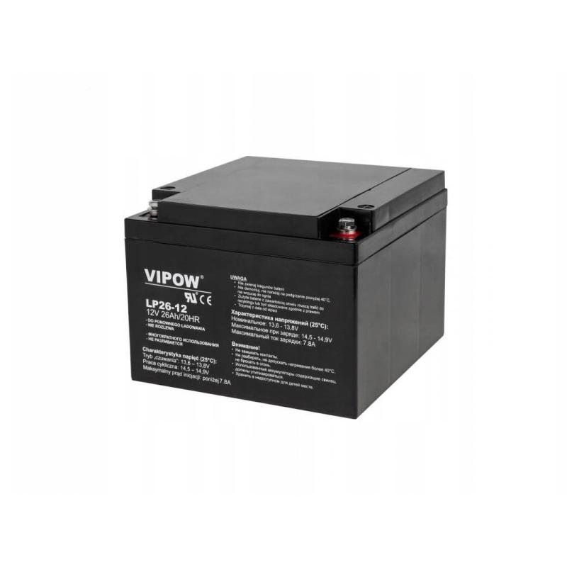 Acumulator stationar plumb acid Vipow, 12 V, 26 Ah 2021 shopu.ro