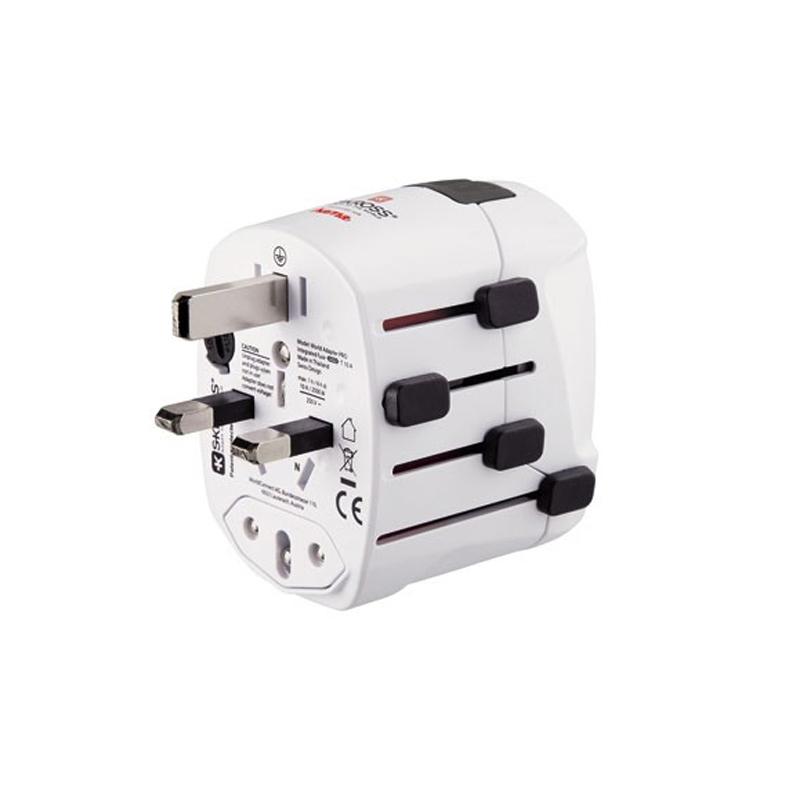 Adaptor priza World Pro Plus Hama, 3 pini, alb 2021 shopu.ro