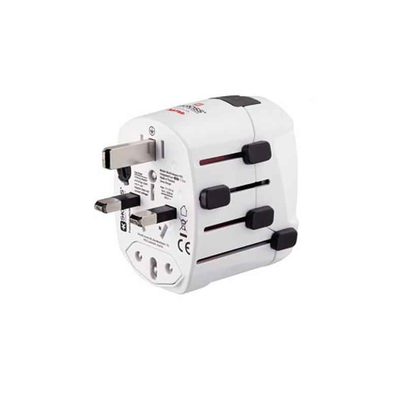 Adaptor priza World Pro USB Hama, 3 pini, alb 2021 shopu.ro