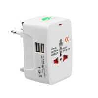 Adaptor priza universal, 1000 mA, 2 x USB, indicator led