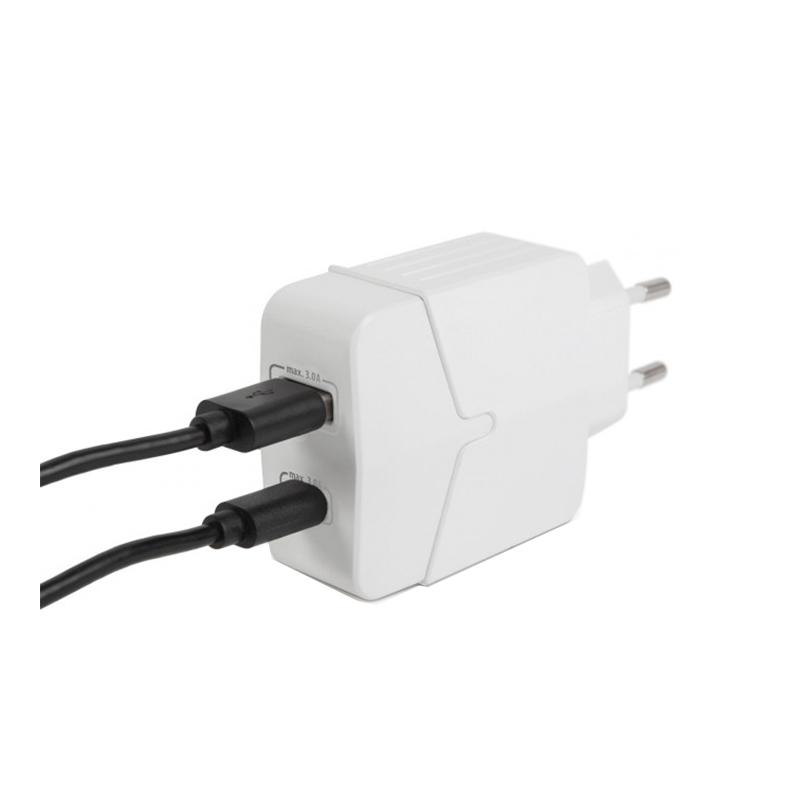 Adaptor retea Delight, 18 W, USB, Type-C, incarcare rapida, Alb 2021 shopu.ro