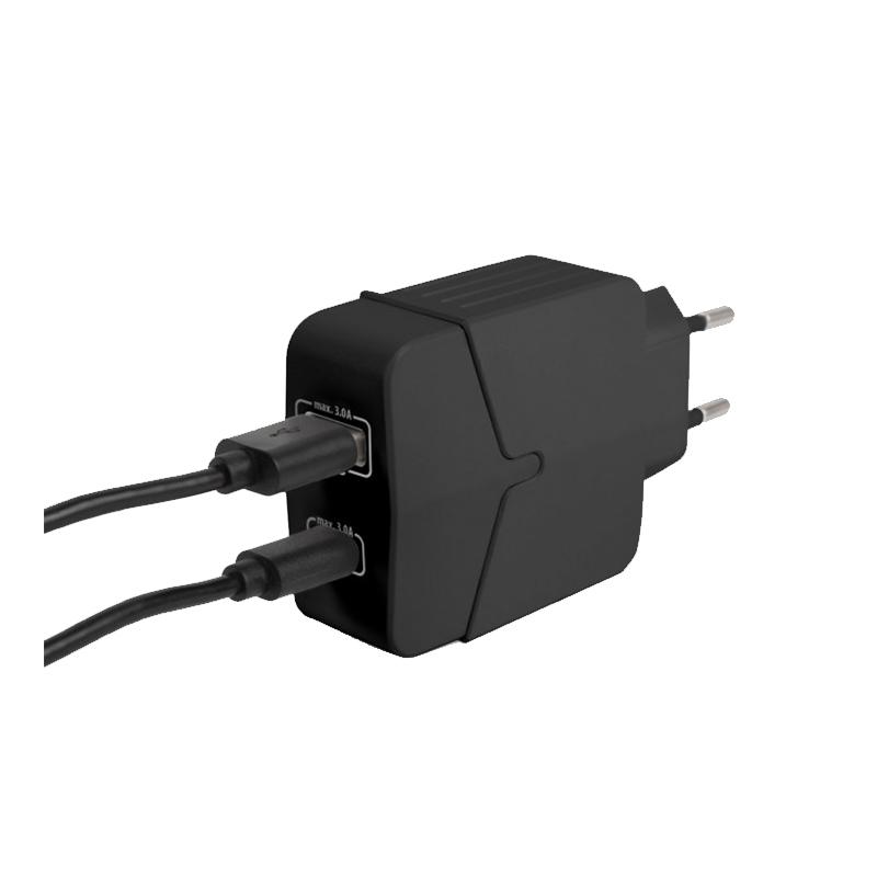 Adaptor retea Delight, 18 W, USB, Type-C, incarcare rapida, Negru 2021 shopu.ro