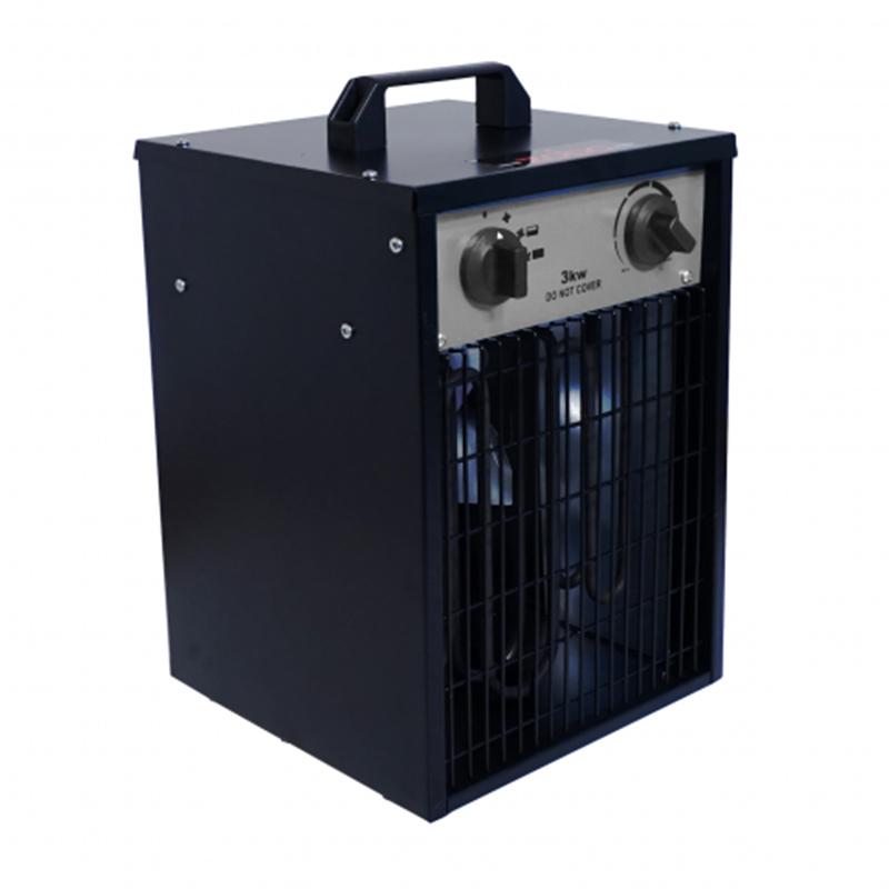 Aeroterma electrica Zobo, 3000 W, 280 mc/h, 3 trepte, IPX4, carcasa otel inoxidabil, termostat reglabil 2021 shopu.ro