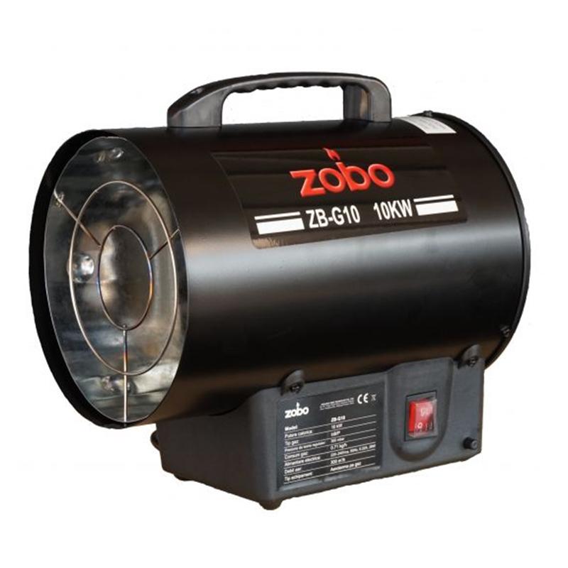 Aeroterma pe gaz Zobo, 10000 W, 300 mc/h, consum 710 g/h, reductor inclus 2021 shopu.ro