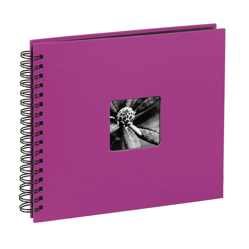 Album foto cu spirala Fine Art Hama, 100 fotografii, 10 x 15 cm, 50 pagini, Roz shopu.ro