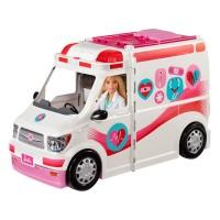 Ambulanta pentru papusi Barbie Mattel, 45 cm, 3 ani+