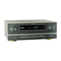 Amplificator Bluetooth 5.1 Akai, 375 W RMS, subwoofer, afisaj VDF, concetor USB, Argintiu