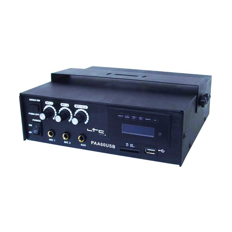 Amplificator LTC, 60 W, USB/SD/MP3, alimentare baterie sau retea 2021 shopu.ro