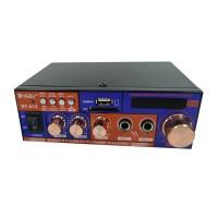 Amplificator digital tip statie BT-618, 2 x 20 W, Bluetooth, intrari USB, SD card, microfon, telecomanda