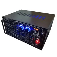 Amplificator profesional ElSales 2210, 2 x 300 W, Bluetooth, USB, SD Card, RadioFM, 6 intrari, egalizator 9 benzi, telecomanda