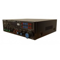 Amplificator profesional tip statie Teli BT-7288, 20 W, USB, suport card SD, 2 x intrare microfon, telecomanda