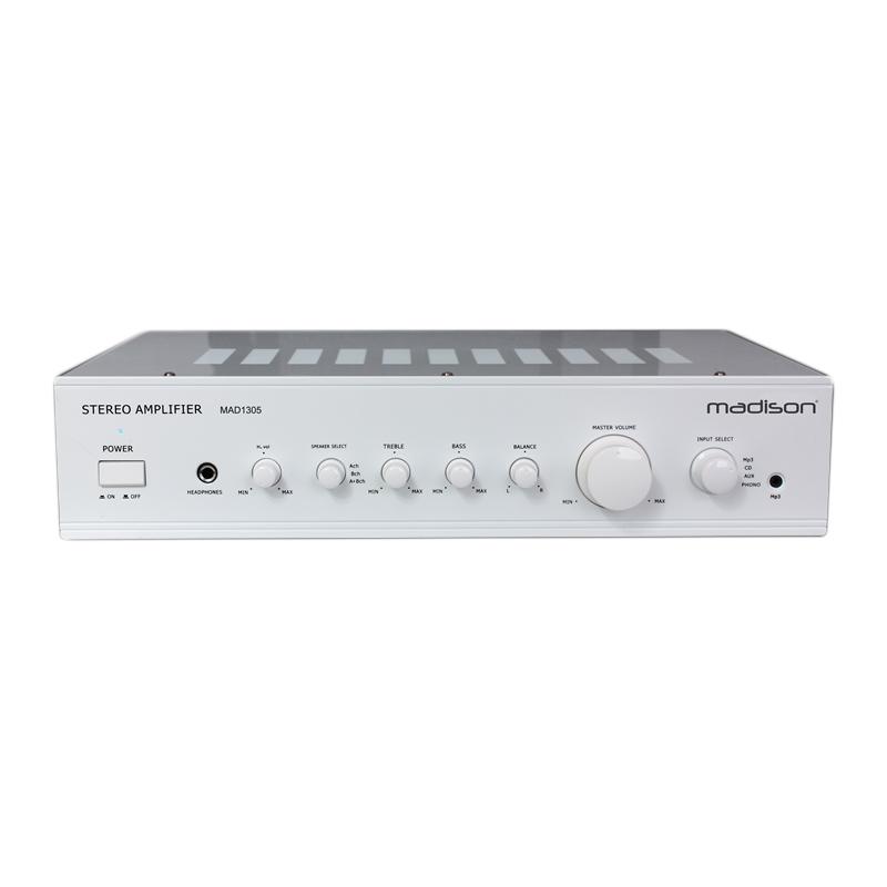 Amplificator stereo Madison, 2 x 80 W RMS, alb 2021 shopu.ro