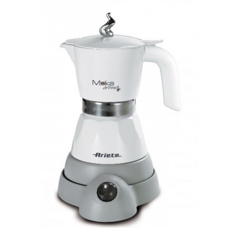 Aparat cafea Ariete Moka Aroma, 400W, 2-4 cesti, baza incalzita, Alb 2021 shopu.ro