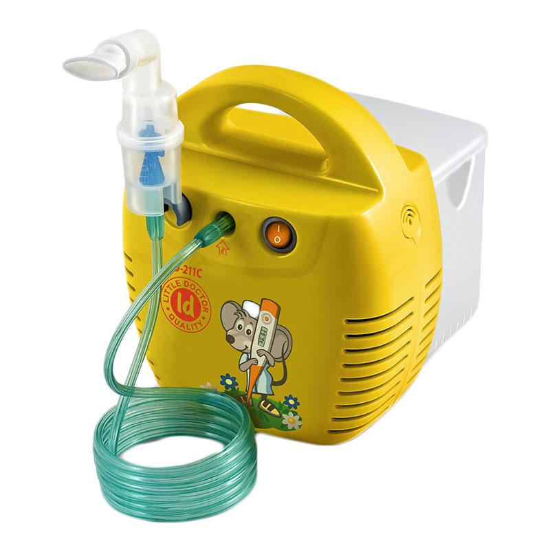 Aparat aerosoli Little Doctor LD 211 C, compresor, 3 dispensere, 3 masti, Galben 2021 shopu.ro