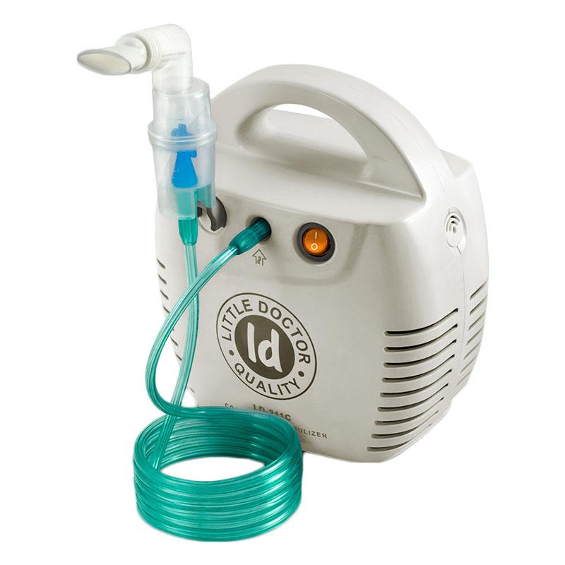 Aparat aerosoli cu compresor Little Doctor LD 211 C, cutie pentru accesorii, 3 dispensere, 3 masti 2021 shopu.ro