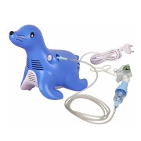 Aparat aerosoli cu compresor Philips Respironics Sami the Seal, Albastru