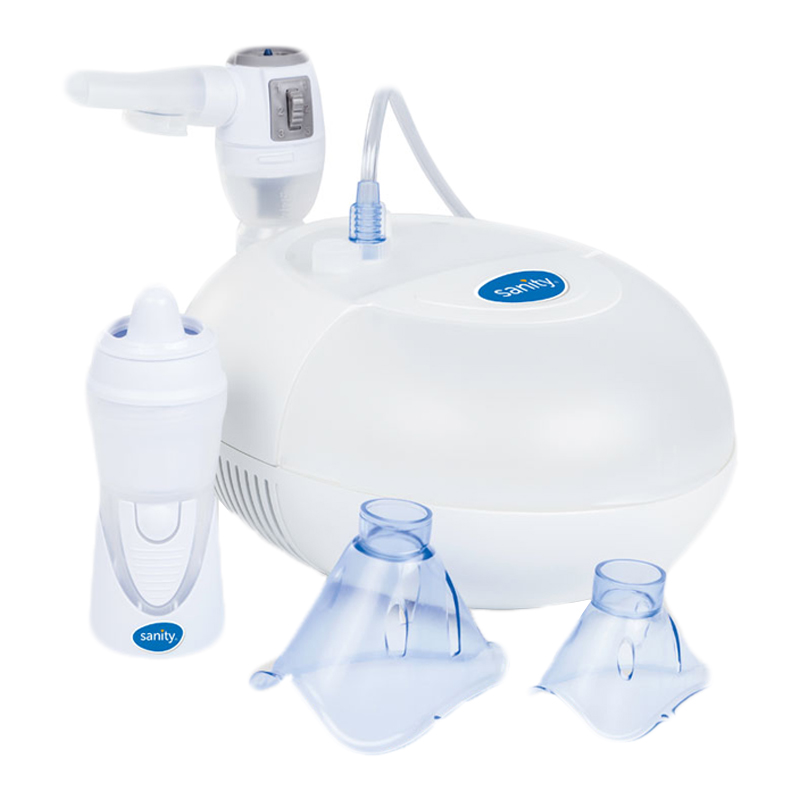 Aparat aerosoli cu compresor Sanity Pro Inhaler, irigator Nosalek Jet 2021 shopu.ro