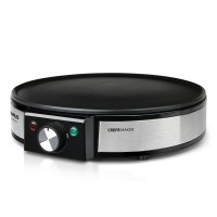 Aparat clatite Taurus, 1200 W, 30 cm, LED, termostat reglabil, Inox