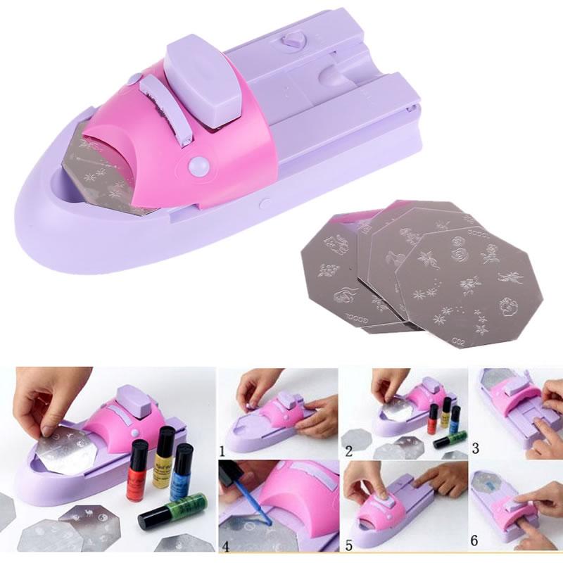 Aparat imprimat modele pe unghii, accesorii incluse