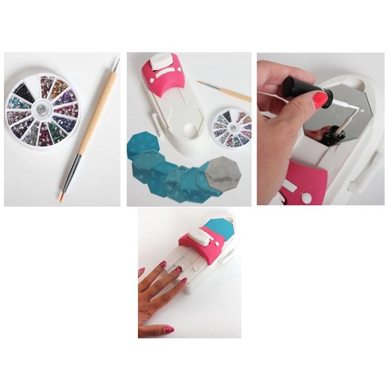 Aparat de imprimat modele pe unghii Hollywood Nails