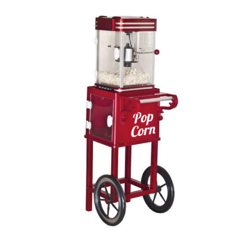 Aparat de preparat popcorn Beper, 1200 W, 750 ml, inaltime 115 cm, preparare 3 minute 2021 shopu.ro
