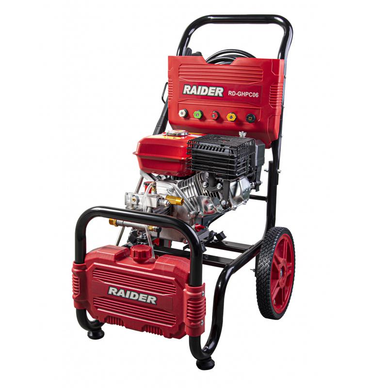 Aparat de spalat cu presiune pe benzina Raider, 4800 W, 20 MPa, 8.3 l/min, 200 BAR 2021 shopu.ro