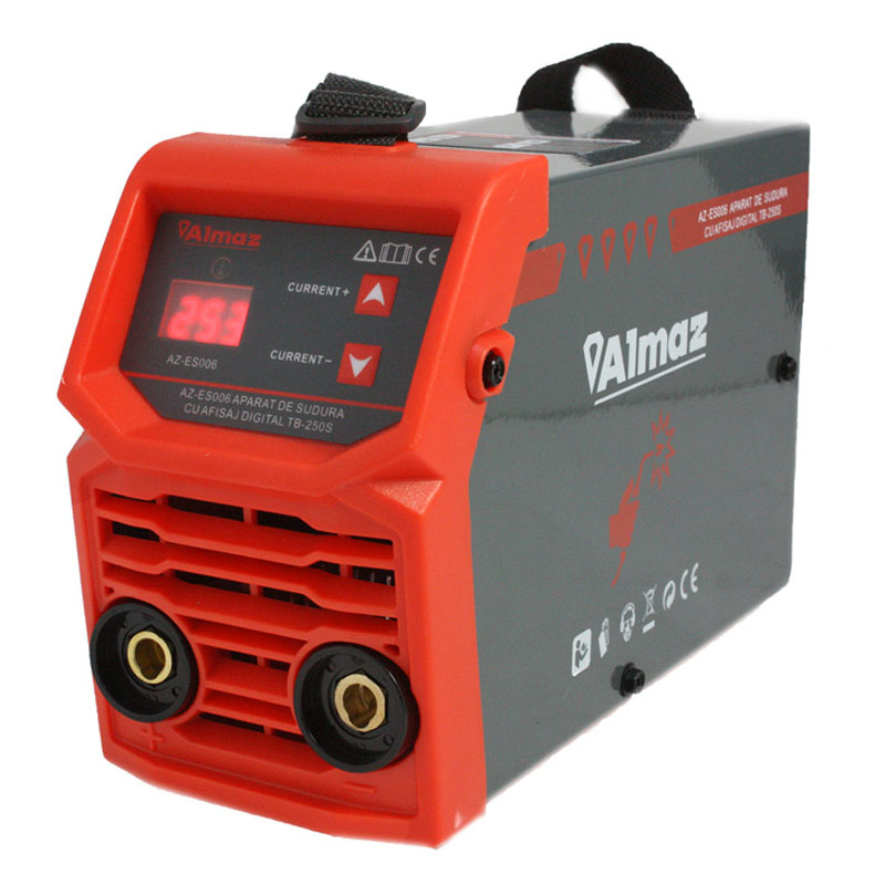 Aparat de sudura Almaz, 250 A, 12 kVA, electrozi 1.6 - 3.2 mm, masca de sudura inclusa shopu.ro