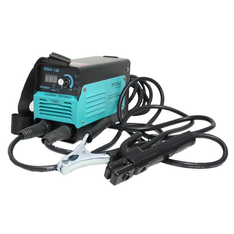 Aparat de sudura Detoolz, 140 A, 6.1 kVA, electrozi 1.6 - 3.2 mm, afisaj electronic, functii VDR, Hot Start, Arc Force shopu.ro