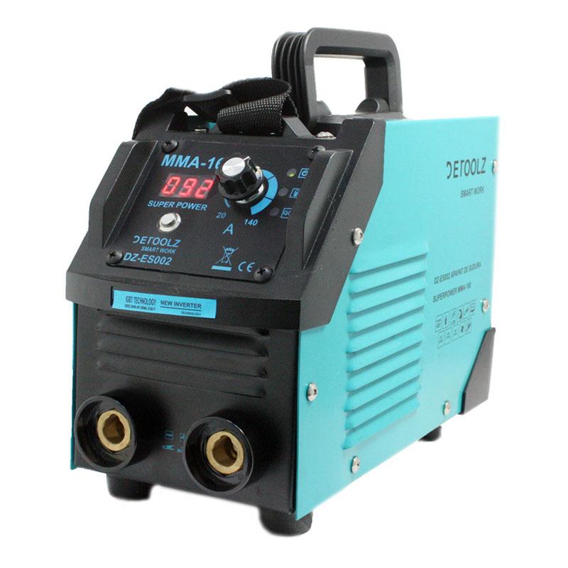 Aparat de sudura Detoolz, 190 A, 8.9 kVA, electrozi 1.6 - 5 mm, afisaj electronic, functii VDR, Hot Start, Arc Force 2021 shopu.ro