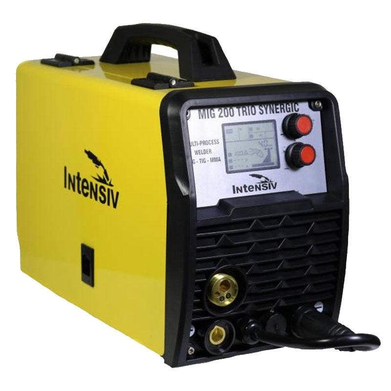 Aparat de sudura Intensiv MIG 200 Trio Synergic, 200 A, max 5 kW, electrod 1.6 - 3.2 mm, LCD 2021 shopu.ro