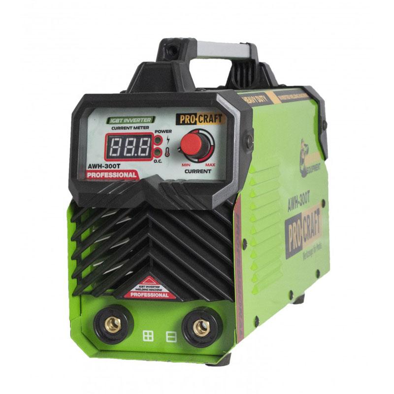 Aparat de sudura ProCraft AWH300T, 300 A, MMA, electrozi 1.6 - 4 mm, afisaj electronic 2021 shopu.ro