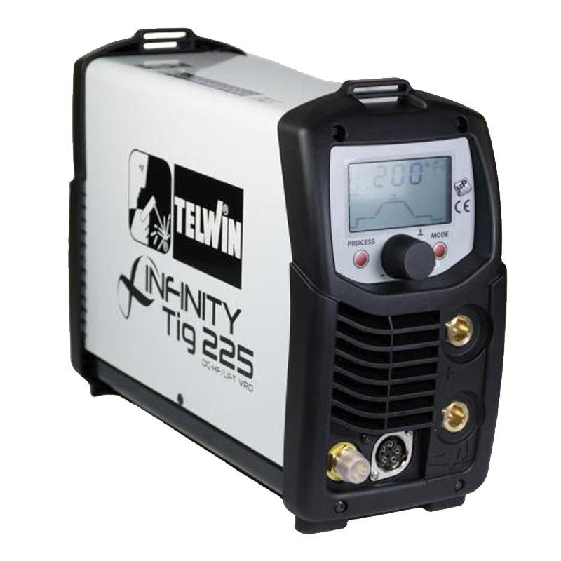 Aparat de sudura Telwin Infinity Tig 225, 200 A, 4.7 kW, electrod 1.6 - 4 mm, IP 23, hot start, arc force shopu.ro