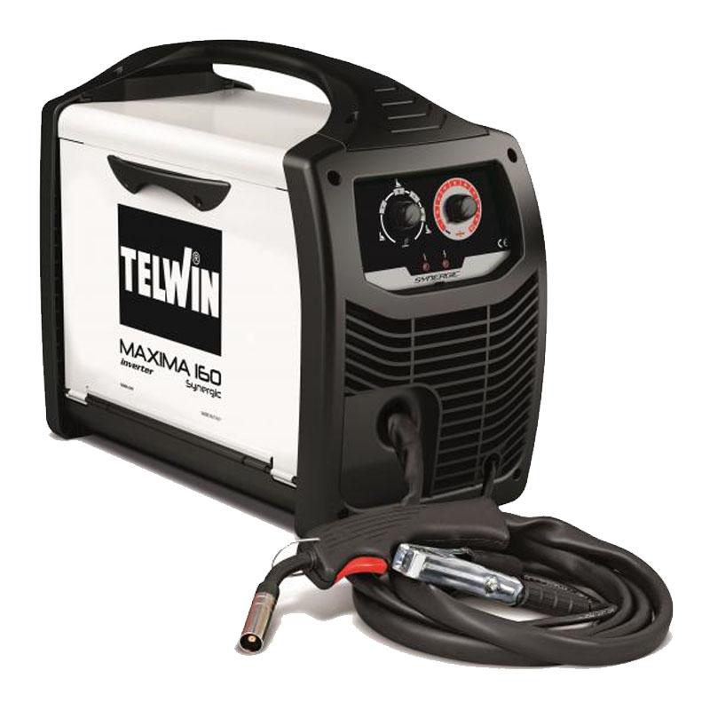 Aparat de sudura Telwin Maxima 160, 150 A, sarma 0.6 - 1.2 mm, MIG, MAG, IP 23, reglare sinergica 2021 shopu.ro