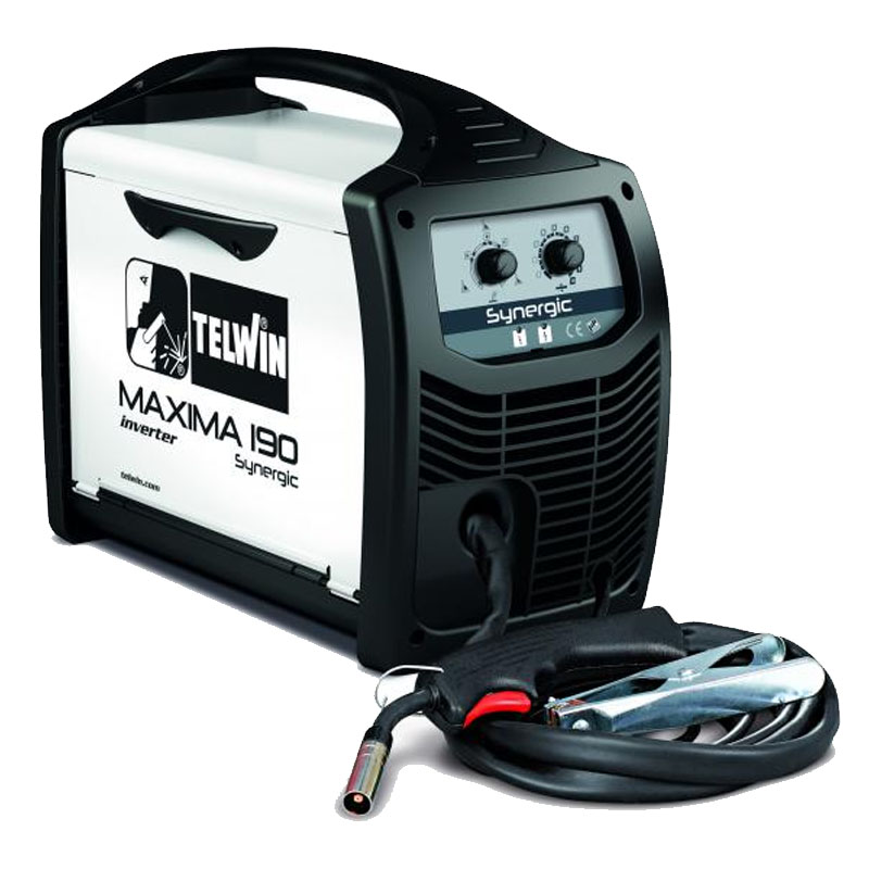 Aparat de sudura Telwin Maxima 190, 170 A, sarma 0.6 - 1.2 mm, MIG, MAG, IP 23, reglare sinergica