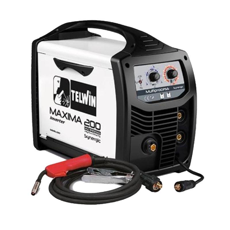 Aparat de sudura Telwin Maxima 200, 170 A, sarma 0.6 - 1.2 mm, MIG, MAG, MMA, IP 23, reglare sinergica 2021 shopu.ro